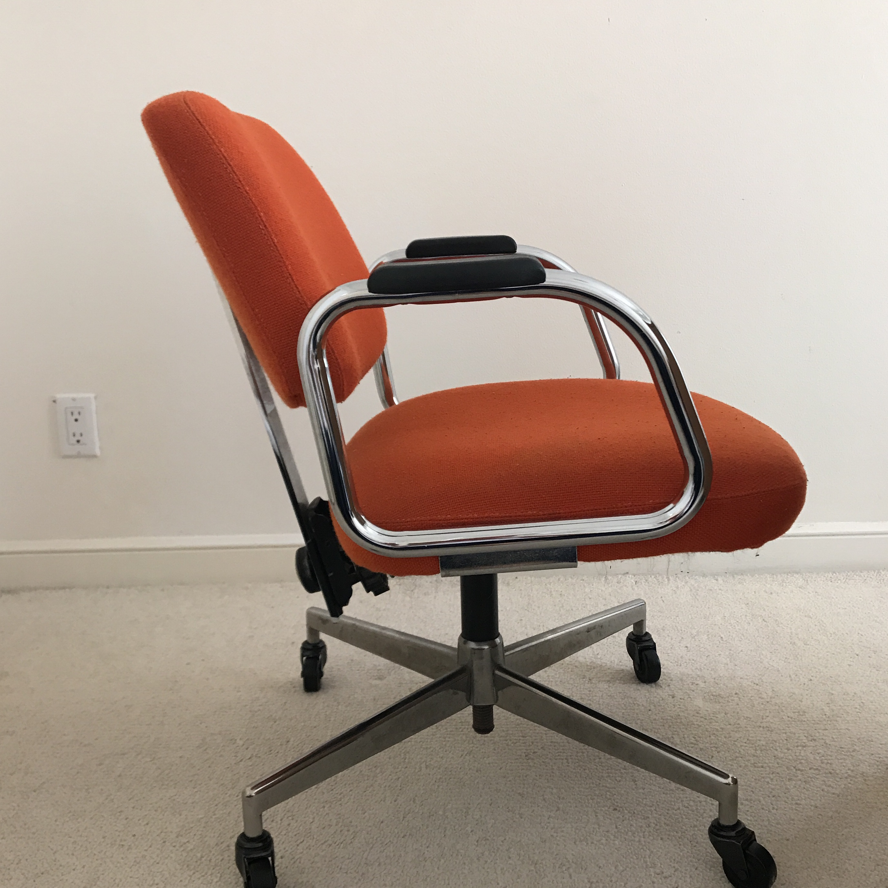 Mid Century Modern Red Office Chair By Harter Furniture Company   Image 4  Of 5
