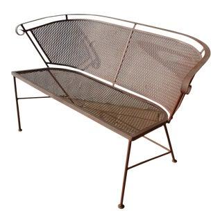 Mid-Century Wire Mesh Patio Sofa Chair Furniture