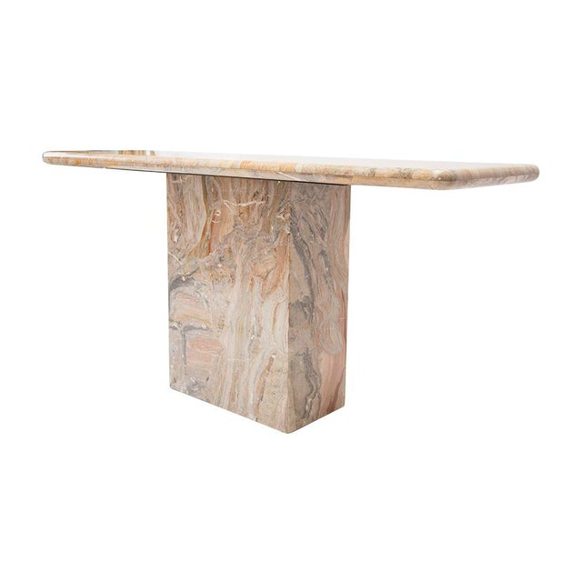 Variegated Marble Console Table - Image 6 of 10