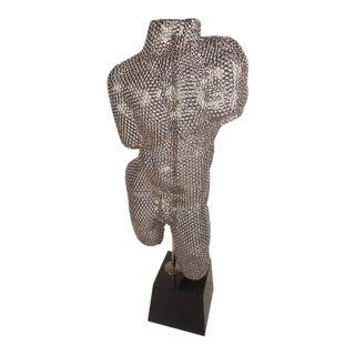 Unique Contemporary Modern Bolt Torso Sculpture