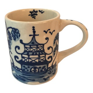 Blue Chinoiserie Porcelain Mug