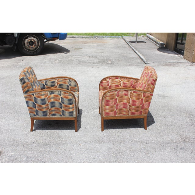 French Art Deco Sold Mahogany Speed Armchairs - A Pair - Image 4 of 11