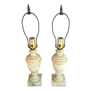 Neoslassical Alabaster Lamps - Pair