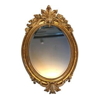 Antique French Gilt-Floral Framed Mirror