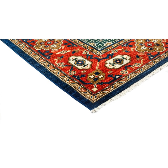 Traditional Tribal Style Hand Knotted Area Rug - 7' X 8' - Image 2 of 3