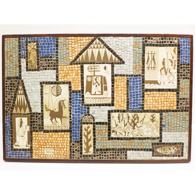David Holleman Ceramic Mosaic Table - Image 3 of 10