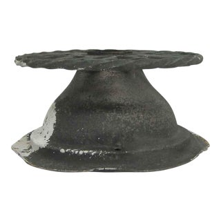 Cast Iron Twisted Circular Flush Mount Fixture