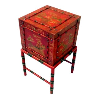 Chinoiserie Lacquered File Box Table