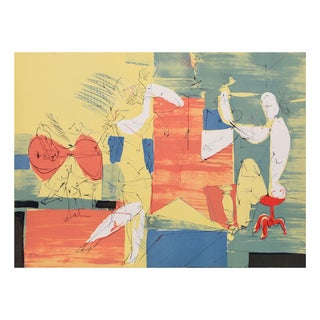"Dimitri Petrov ""Cubist Band"" Lithograph"