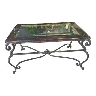 Maitland-Smith Metal & Glass Cocktail Table