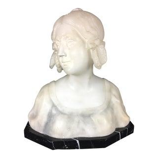 Rudolf Kuchler Young Girl Alabaster Sculpture