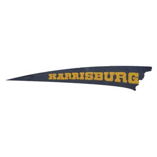 Antique Harrisburg Felt Flag Banner Remnant