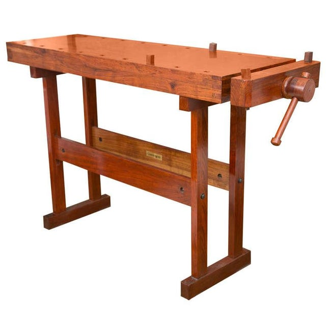 Rhodesian Teak Work Bench - Image 1 of 7