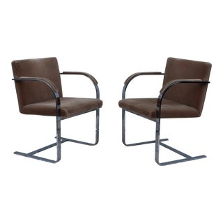 1970's Mies Van Der Rohe for Thonet Chairs - Set of 2