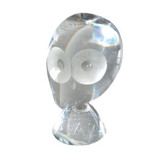 Steuben Signed Glass Owl
