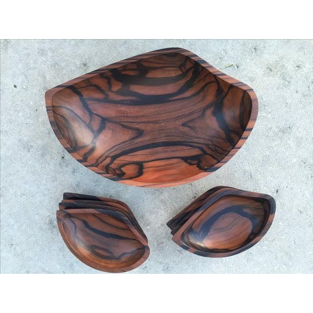9-Piece Rosewood Salad Bowl Set - Image 9 of 11