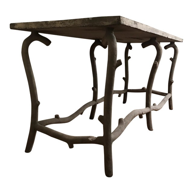 Faux Bois Concrete Table - Image 1 of 3
