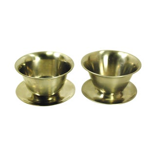 Mid-Century Stainless Steel Serving Bowls - A Pair