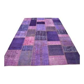 Purple Overdyed Oushak Rug - 7′1″ × 9′11″