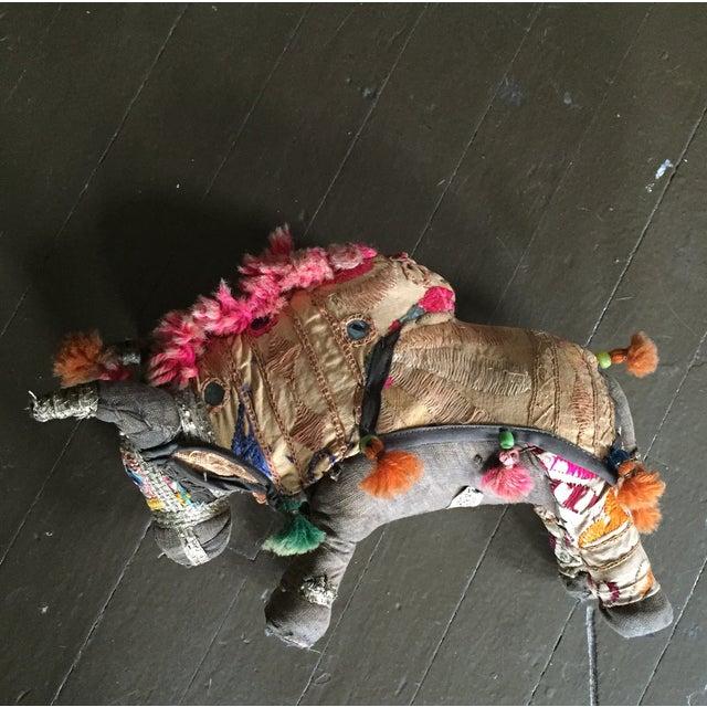 Antique Indian Boho Chic Yak Doll - Image 2 of 9