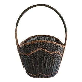Woven Green & Brown Basket