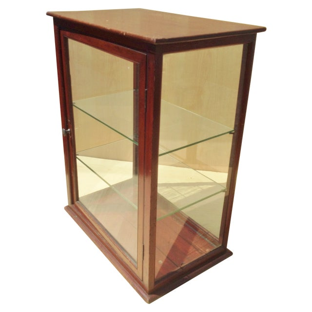 19th C. English Mahogany Counter Top Display Case - Image 1 of 6