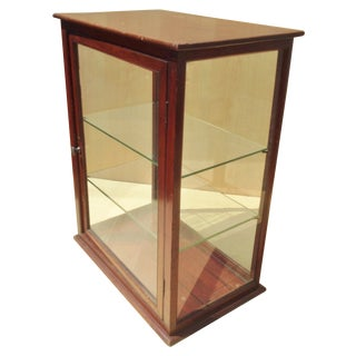 19th C. English Mahogany Counter Top Display Case