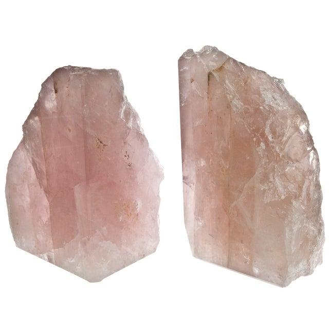 Image of Rose Quartz Bookends - Pair