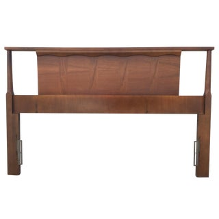 Mid-Century Walnut Full Size Headboard