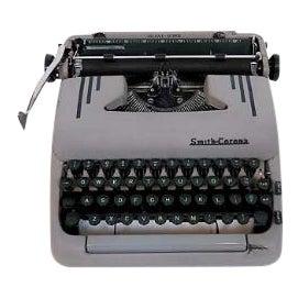 Art Deco 1950s Corona Typewriter