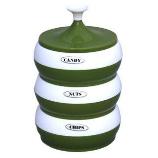 Mid-Century Avocado Canister Set