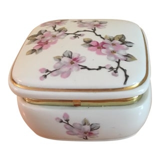 Asian Style Floral Music Box