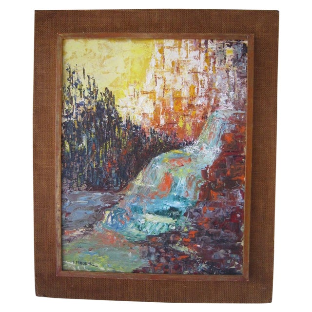 J. Mader Signed Mid Century Painting - Image 1 of 7