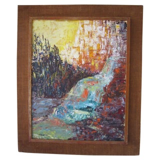 J. Mader Signed Mid Century Painting