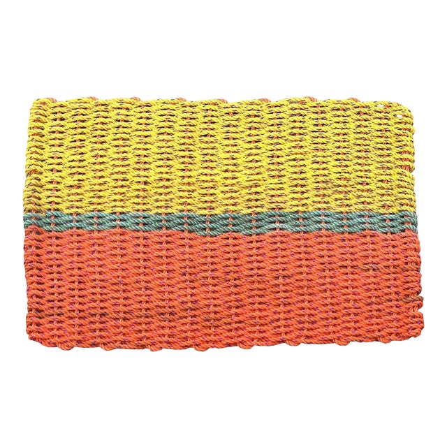"""Recycled Lobster Rope Doormat """"Peaks"""" - 1'7"""" x 2'10"""" - Image 1 of 5"""