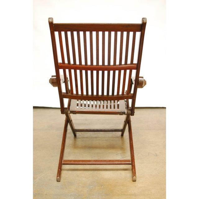 Image of Antique Ocean Steamer Deck Chair