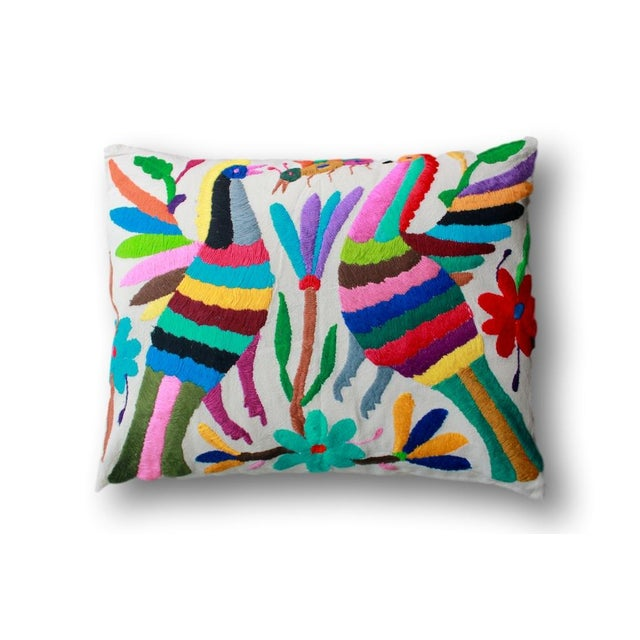 Hand-Woven Tenango Pillow - Image 2 of 3