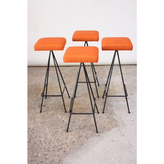 Set of Four Adrian Pearsall #11 Iron Barstools - Image 3 of 11