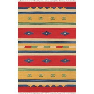 Anatolian Hand-Woven Cotton Rug- 4' X 6'