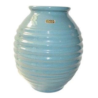 Large Mid-Century Royal Haeger Turquoise Vase