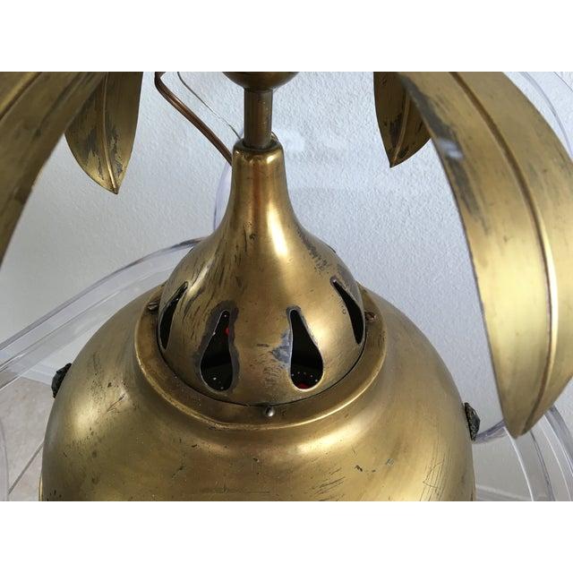 Midcentury Moroccan Brass Pendant Light - Image 4 of 10