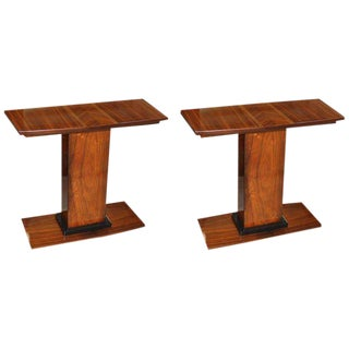 Beautiful French Art Deco palissander Console Tables - A Pair Circa 1940s