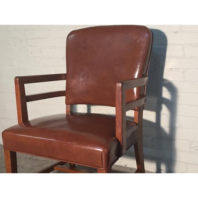 Mid-Century Office Chairs W/Nailhead Back - A Pair - Image 8 of 10