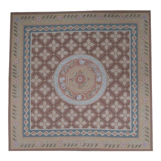 """Pasargad Aubusson Hand Woven Wool Rug - 6' 0"""" X 9' 1"""""""