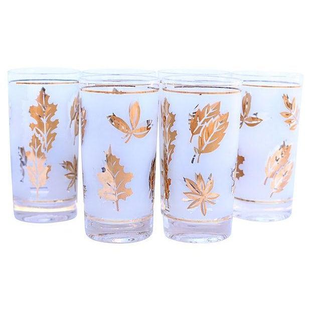 Frosted Leaf Glasses - Set of 6 - Image 1 of 4