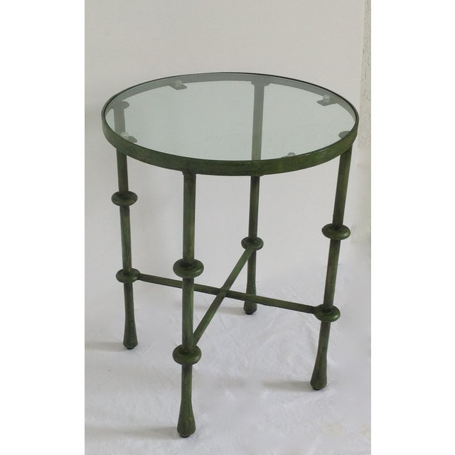 Giacometti-Style Forged Round End Table - Image 4 of 11