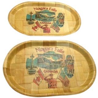 Vintage Niagara Falls Trays - A Pair