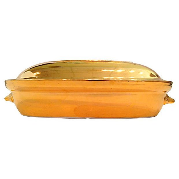 Image of Royal Worcester Gold Lustre Covered Casserole Dish