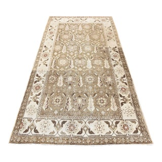 Muted Brown Vintage Anatolian Runner Rug - 4′10″ × 9′10″