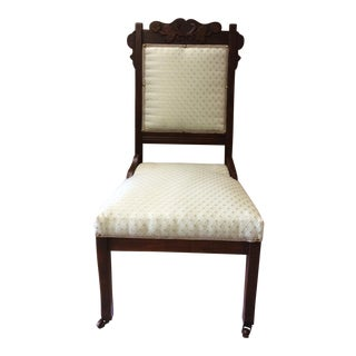 Carved Wood Parlor Chair